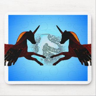 Mystic Winged Horse Unicorn Flying Pegasus Mousepad