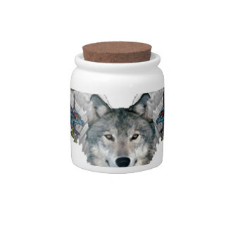 mystic wolf candy dish