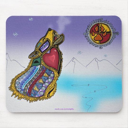 Mystic Wolf Ojibwe-style Art Mousepad