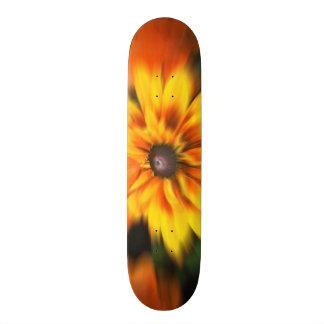 Mystic Yellow Flower Blur Skate Board