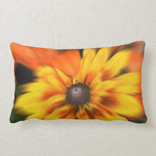 Mystic Yellow Flower Throw Pillow