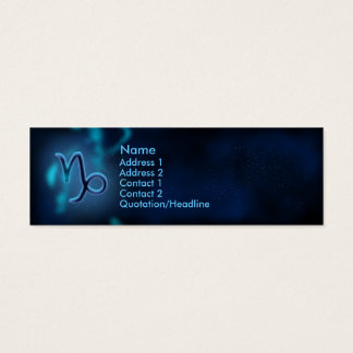 Mystic Zodiac - Capricorn Mini Business Card
