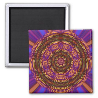 Mystical Abstract 2 Inch Square Magnet