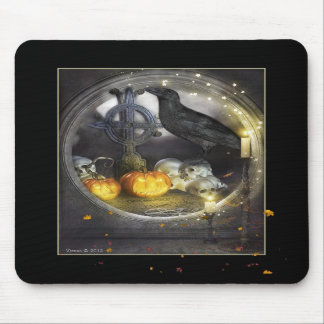 Mystical and Magical Raven Mousepad or Mouse Mat