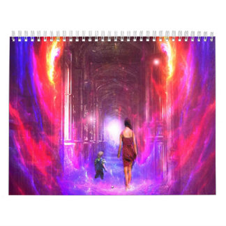 Mystical and Uplifting Digital Art Filled Calendar