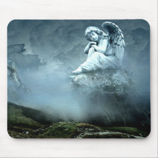 Mystical Angel on Mountain Mouse Pad