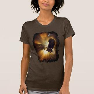 Mystical Bald Eagle & Rays of Sunlight Fantasy Art T-Shirt