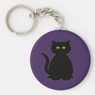 Mystical Black Cat Keychain