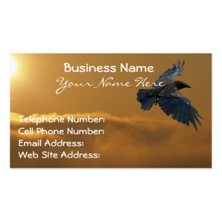 Mystical Black Crow (Raven) for Bird-lovers Double-Sided Standard Business Cards (Pack Of 100)