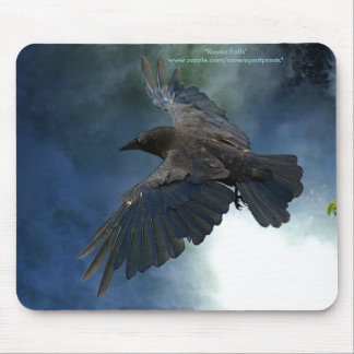 Mystical Black Crow (Raven) for Bird-lovers Mouse Pad
