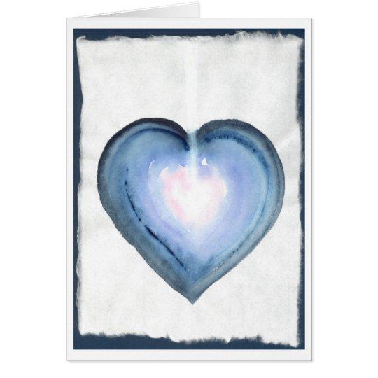 Mystical Blue Heart Card