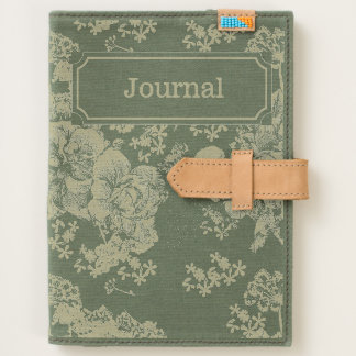 Mystical Blue Purple floral sketch artsy pattern Journal