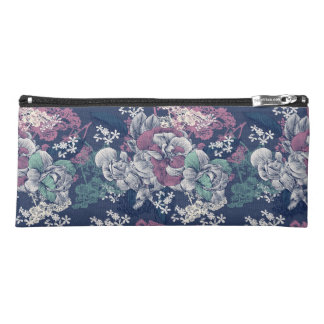 Mystical Blue Purple floral sketch artsy pattern Pencil Case