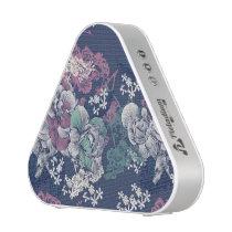 Mystical Blue Purple floral sketch artsy pattern Speaker