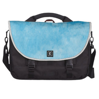 Mystical Castle Baby Blue Snowy Night Laptop Computer Bag