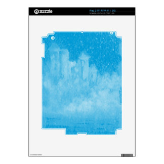 Mystical Castle Baby Blue Snowy Night Decal For The iPad 2