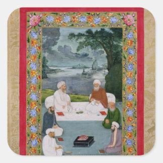 Mystical conversation between Sufic sheikhs Square Sticker