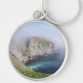 Mystical Cove Silver-Colored Round Keychain