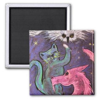 Mystical creatures fridge magnets