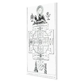 Mystical diagram of Solomon s Stretched Canvas Prints