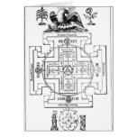 Mystical diagram of Solomon's Card