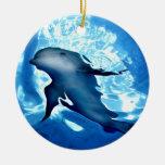 Mystical Dolphin.jpg Christmas Ornaments