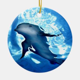 Mystical Dolphin jpg Christmas Ornaments