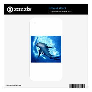 Mystical Dolphin.jpg iPhone 4 Decals