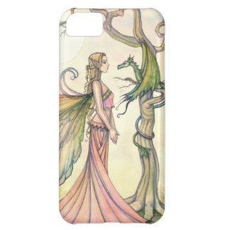 Mystical Fairy and Dragon Fantasy Art iPhone 5C Cover