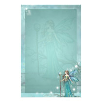 Mystical Fairy Fantasy Art Teal Stationery