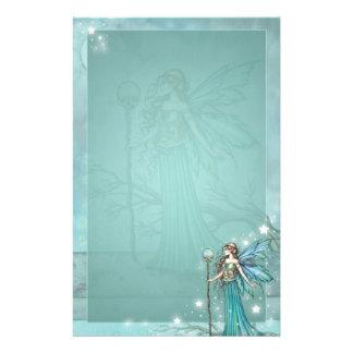 Mystical Fairy Fantasy Art Teal Stationery