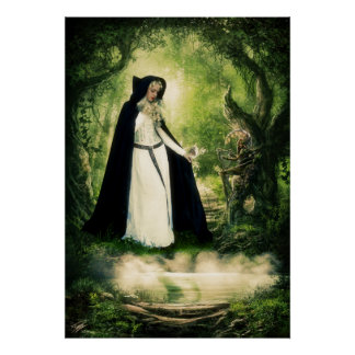 Mystical Fairy Woods Poster