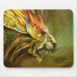 Mystical Fantasy Lion's Head Profile Mouse Pad