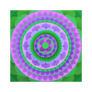 Mystical flower Mandala on canvas Canvas Print