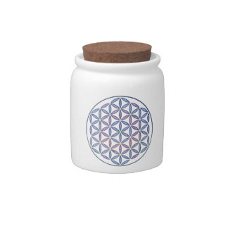 Mystical Flower of Life Candy Jars