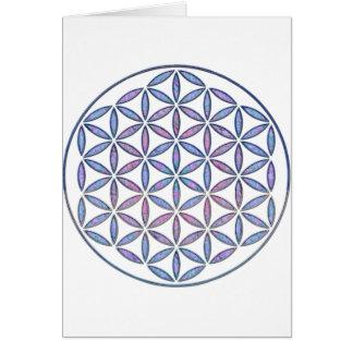 Mystical Flower of Life Card
