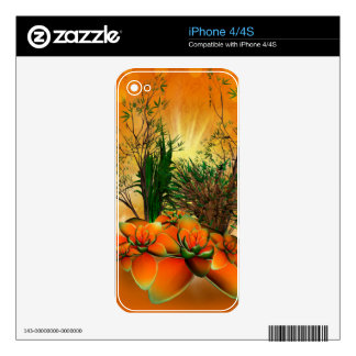 Mystical foliage with bamboo, buttercup and a shru decal for the iPhone 4
