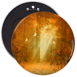 Mystical forest with butterflies button