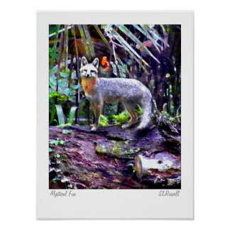 """""""Mystical Fox"""" Original Photography by S.Russell Poster"""