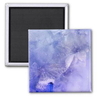 """""""Mystical Garden - Butterflies in Blue"""" collection Magnet"""
