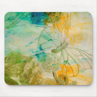 """Mystical Garden - Golden Butterflies"" collection Mouse Pad"