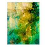 """""""Mystical Garden - Rays of Gold"""" original Lyrical Postcard"""