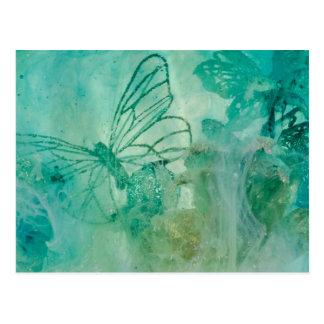 """Mystical Garden - Waterfall"" collection original Postcard"