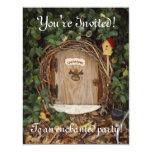 Mystical Gnome Garden Door Party Invite