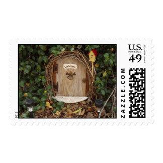 Mystical Gnome Garden Door Postage Stamp