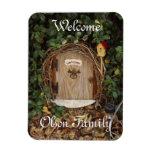 Mystical Gnome Garden Door Welcome Magnet