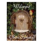 Mystical Gnome Garden Door Welcome Postcard