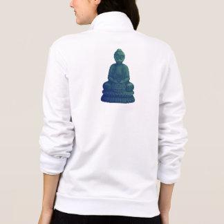 Mystical Green Buddha Pixel Art Printed Jackets