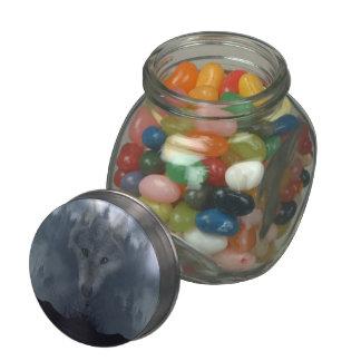Mystical Grey Wolf Spirit Wildlife Art Jelly Belly Candy Jars