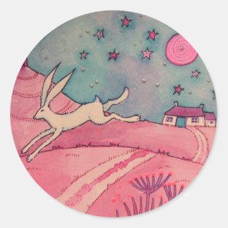 Mystical Hare Classic Round Sticker